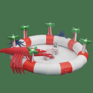 Круглый надувной бассейн «Краб и Осьминог»