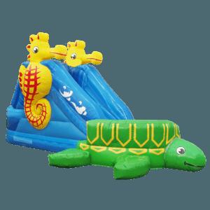 Надувная водная горка «Черепашка с бассейном»