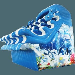 Водная надувная горка «Сальто дельфина»