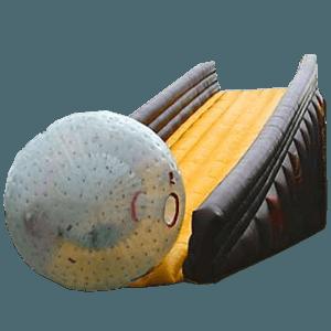 Надувная горка для зорба «Yellow ramp»