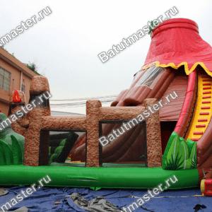 Надувная горка «Логово динозавра», размер 13*11*10 м