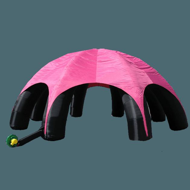 надувной тент чёрно-розовый