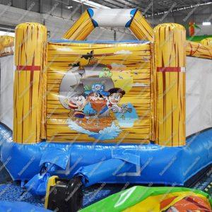 Коммерческий надувной батут «Весёлый пират», размер 4.5*4.5*4 м