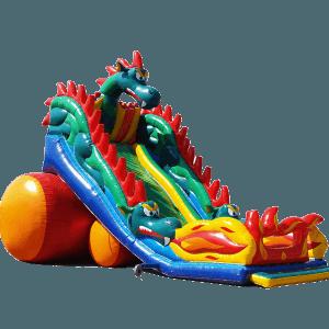 Коммерческий надувной батут-горка «Огненный дракон»