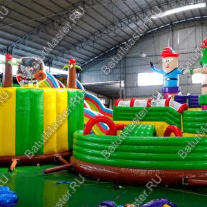 """Коммерческий надувной батут """"Детский мегапарк 2"""" 18x18x8"""