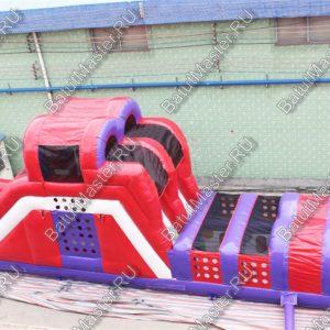 Надувная полоса препятствий «Веселые испытания» 14x3.5x5 м.