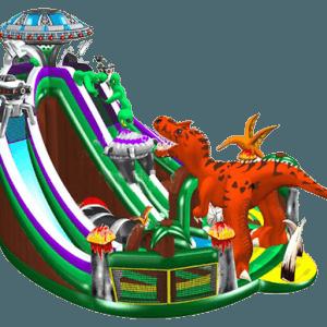 Надувная горка «Динозавр с Марса»