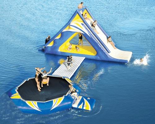 Надувной Аквапарк «Батут-черепаха и горка-акула»