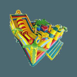Надувной батут «Мульти-сафари-крокодил»