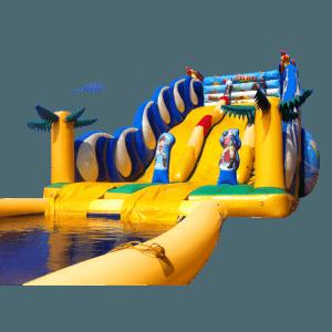 Надувная водная горка с бассейном Карибы (5)