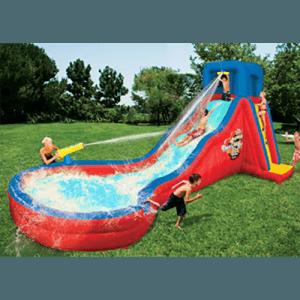 Надувной водный батут с бассейном «Лазурная горка»