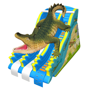 Надувной батут-горка «Крокодил Данди»