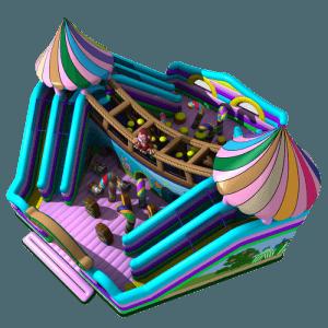 Надувной батут «Сладкий домик»