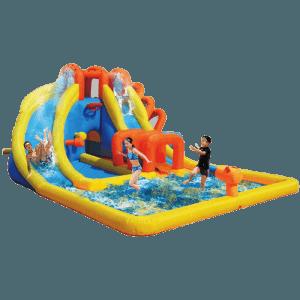 Надувной водный батут с бассейном «Аква лабиринты»