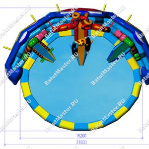 """Надувной аквапарк """"Аквасфера"""", размер 23.5*19*7 м"""