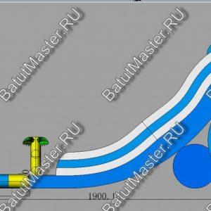 """Батут с бассейном """"Пляжный оазис"""", 21*6*9 м."""