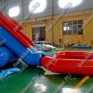 """Надувная водная горка """"Пляжная"""", размер 6.5x3x2.5 м., без подкачки"""
