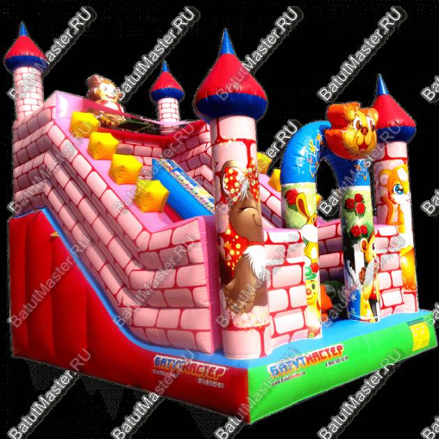 """Надувной батут """"Весёлый замок"""", размер 6x4x5.5 м."""