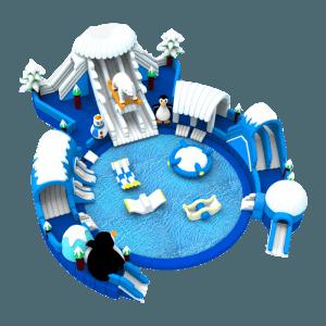 Надувные аквапарки на земле