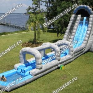 Батут с бассейном «Водопад», размер 27*6*10 м