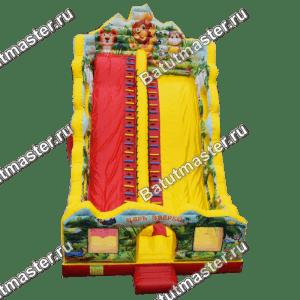 Коммерческий батут-горка «Царь зверей-2», размер 13*7*10 м
