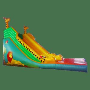 КоммерческиКоммерческий батут-горка «Царь зверей c жирафом»й батут-горка «Царь зверей»