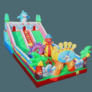 Коммерческий батут «Морские приключения», размер 15*8*7 м
