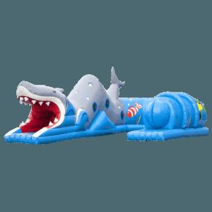 Коммерческий надувной батут «Тоннель Акула»