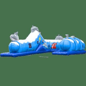 Коммерческий надувной батут «Тоннель дельфин», размер 8*5*2.6 м