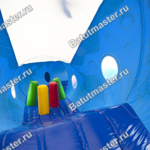 Коммерческий надувной батут «Тоннель Акула», размер 8*5*2.6 м