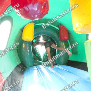 Коммерческий надувной батут «Тоннель Гусеница», размер 8*5*2.6 м