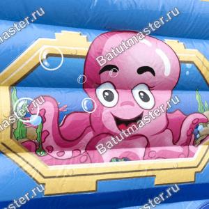Коммерческий надувной батут «Тоннель Морское царство», размер 15*3.4*3.1 м