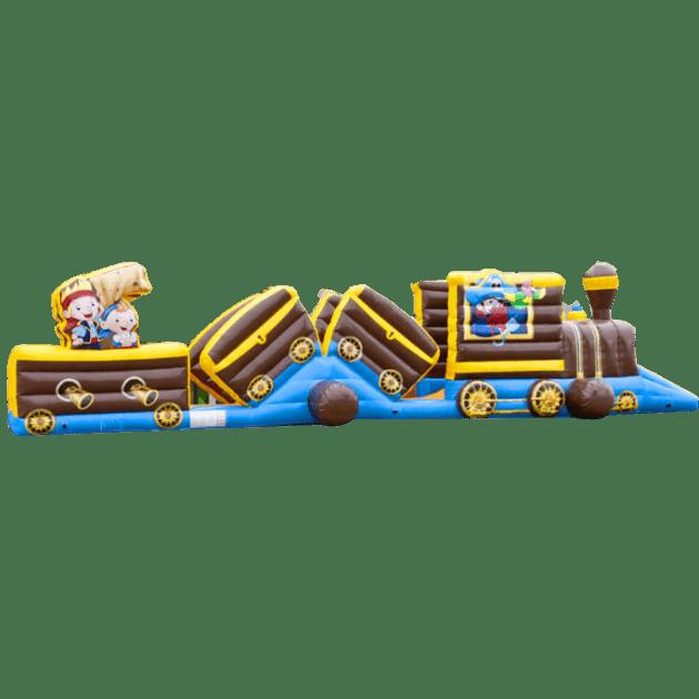 Коммерческий надувной батут «Тоннель Пират», размер 15*3.4*3.1 м