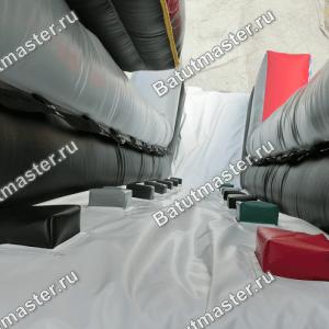Надувной батут-горка «Американские горки», размер 14*7*8 м