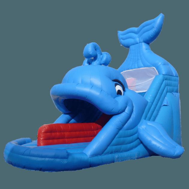 Надувной батут-горка «Дельфин», размер 10*5*6 м