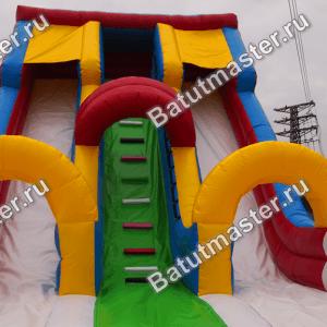 Надувной батут-горка «Гора дружбы», размер 7*4.5*5.5 м