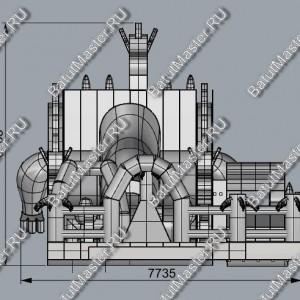 Батут «Саванна», размер 14*7.5*7 м