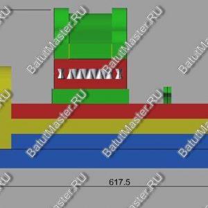 Вариант Дракоши высотой 3.8 м. для Торговых центров с низкими потолками