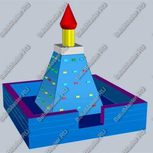 Скалодром «Пирамида», размер 5х5х5 м.