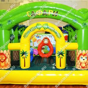 """Надувной батут """"Озорная обезьянка"""", размер 4*4*2.5 м"""