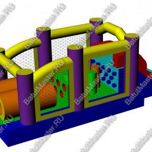 "Надувной батут ""Попрыгунчик"", размер 6х3х2 м."