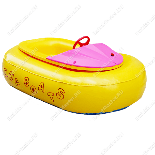 """Бамперная лодочка """"Жёлтая"""", размер 1.56 x 1.1 x 0.48 м"""