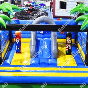 """Надувной батут """"Компания клоунов"""", размер 5*5*2.5 м"""