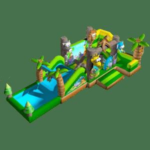Батут с бассейном «Зоомир»