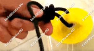 Как привязать веревку к креплению водного шара