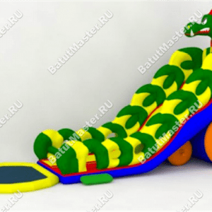 "Надувной батут ""Дракон + бассейн"", размер 17*6*9 м"