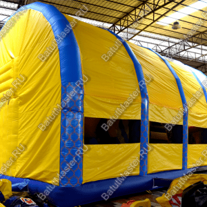 """Коммерческий надувной батут Морской бриз 2"""" с крышей и механической головой, 12x8x7"""