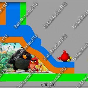 "Батут ""Яркие птички"", макет, размер 6*3.5*5 м"