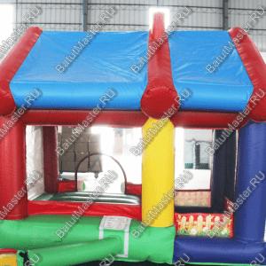 """Надувной батут """"Домик в деревне с крышей"""" размер 3.5x3x2.7"""