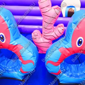 """Надувной батут """"Морское царство"""", размер 4*4*2.5 м"""